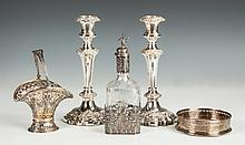 Group of Silver Plate & 800 Silver Table Articles