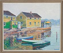 George Renouard (American, 1885-1954) Harbor scene