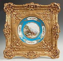 French Hand Painted Plate