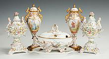 Porcelain Urns & Covered Tureen