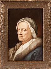 KPM Painting on Porcelain, Portrait of a Woman