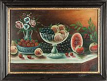 Still life with fruit & flowers