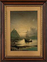 Joseph Hanlon (British, Active 19th century) Harbor Scene
