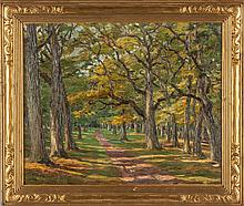 Theodore Robinson (American, 1852-1896) Wooded Path