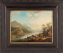 Attr. to Christian George Schutz (German, 1718-1791) On the Rhine River