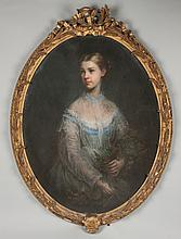 Attr. to John Russell (English, 1745-1806) Portrait of a Young Lady