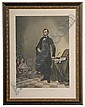 Abraham Lincoln Large Hand-Colored Lithograph,