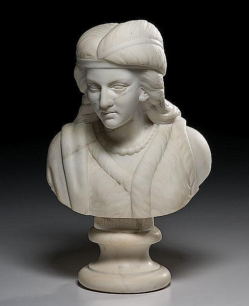 Bust of Minnehaha by Edmonia Lewis, African American Sculptor,