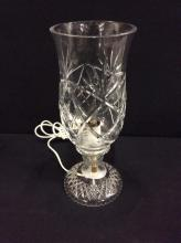 Vintage Tall Crystal tabletop lamp