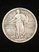1917-S key silver standing liberty variety 1 quarter see pics ef to vf see pic you decide