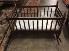 Antique baby Crib - fragile!