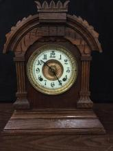 Antique heavily carved Ansonia Eight Fay Tunis Strike Mantle clock