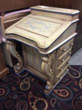 Vintage inspired Small child's or women's secretary with extra storage drawers on side