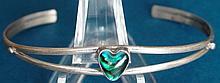 Native American Navajo Sterling Silver Abalone Shell Bracelet Jack Whittaker