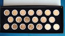 2001-2002 United States 24K Gold Plated State Quarter Set P & D Mints