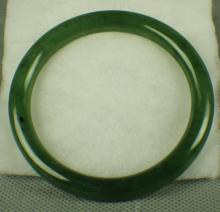 A Green Jade Bracelet of Qing Dynasty