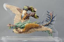 A Shi Wan Porcelain Statue of a Fairy Riding Phoenix Dynasty