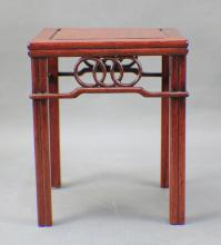 A Rosewood Table Flower-stand from Qing
