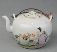 A Famille Rose Teapot of Figure Pattern 4 2/1