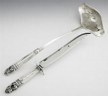 Sterling Double Lip Punch Ladle and Carving Knife by International, in the