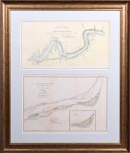 Two Corps of Engineers Colored Maps, 19th c., of