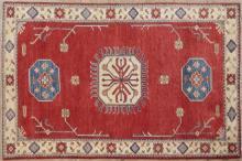Uzbek Kazak Carpet, 4' 4 x 7' 6.