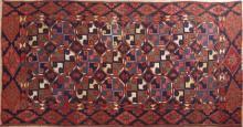 Uzbek Kilim Carpet, 4' 5 x 9' 2.
