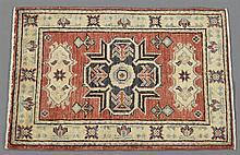 Kazak Carpet, 2' 11 x 2' 1.