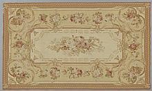 Aubusson Style Needlepoint Carpet, 20th c., 5' x 8'.