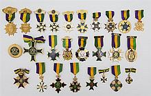 Mardi Gras- Collection of Twenty-Seven Rex Ducal Badges, consisting of 1958, 1961, 1963, 1964, 1965, 1966, 1969, 1970, 1971, 1973, 1...