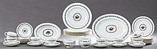 Forty-Four Piece Set of Wedgwood Bone China Dinnerware, 20th c., in the