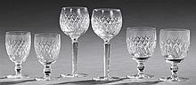 Thirty-Six Piece Set of Waterford Crystal Stemware, in the Donegal pattern, consisting of twelve white wines, twelve goblets, and tw...