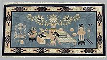 Chinese Art Deco Style Pictorial Carpet, 4' 5 x 7' 3.