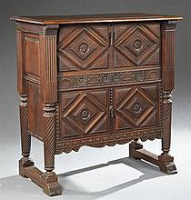 Spanish Colonial Style Carved Mahogany Vargueno Cabinet, early 20th c