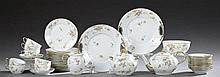 Thirty-Eight Piece Set of Limoges Porcelain, c. 1900, by Gustave Demartial & Co., consisting of a teapot, a covered sugar, a creamer...