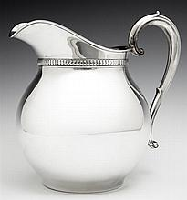 Wallace Sterling Pitcher, 20th c., #1460, 5 pints, H.- 8 1/4 in., W.- 8 1/2 in., D.- 6 1/2 in., Wt.- 18.8 troy oz.