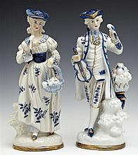 Pair of Continental Porcelain Figures, 19th c