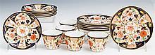 Seventeen Piece Partial Dessert Service, c. 1900, by Royal Crown Derby, in the