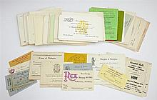 Mardi Gras- Large Group of Ball Invitations and Admit Cards, from the 50's, 60's and 70's, including Elves of Oberon, Choctaw, Alla,