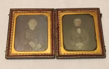 Set of 2-1/6th Plate Daguerreotype of a Couple In One Case