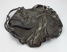 Albert Köhler & Cie Art nouveau silver plate centre piece