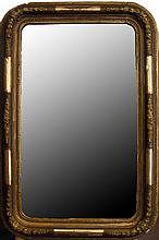 Biedermeier style mirror with gilt decoration