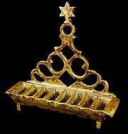 Bronze Hanukkah lamp with the Star of David