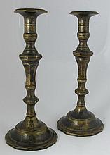 Pair of bronze Sabbath candlesticks