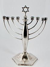 English sterling silver Hanukkah lamp