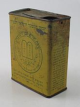 Money box with Hebrew text and the stone tablets