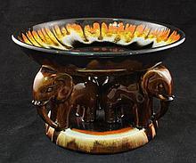 Rare Austrian art deco ceramic centre piece by G.K.V. Osterr. Edelkeramik