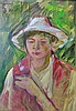 Ferenc B. Mikli  (Hungarian,1921 - ): Man in hat