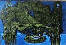 Gyula Xantus (Hungarian, 1919 - 1993): Above the reed