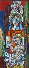 János Józsa  (Hungarian,1936 - ): The Holy Family